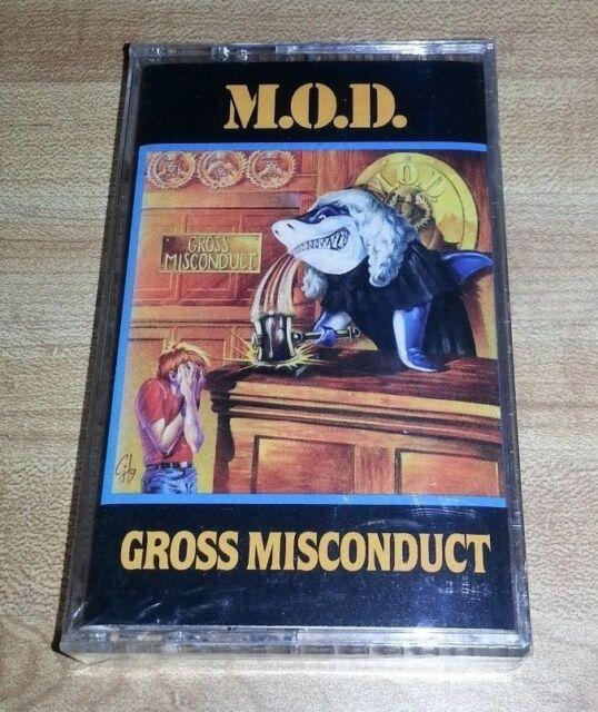 M O D MOD GROSS MISCONDUCT CASSETTE 1989 MEGAFORCE NEW SEALED SOD ANTHRAX