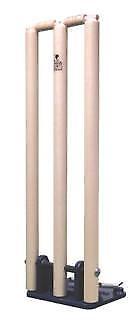 Cricket madera primavera atrás Stumps cargado hierro base indoor-outdoor-Bail Bonds