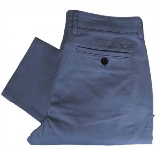 Dusk Blue fit Scott Tr405v Lino in Chino slim cotone wRZIxtq