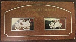 2-1974-Franklin-Mint-4-ozt-Sterling-Silver-Centennial-Car-Ingots-Daimler-Duryea