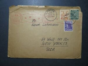 Germany-1947-Munich-Censor-Cover-to-USA-Top-Curling-Z11880