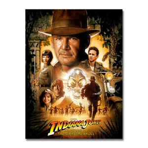 Indiana Jones Hot Movie Art Silk Poster Canvas Print 12x18 24x36 inch