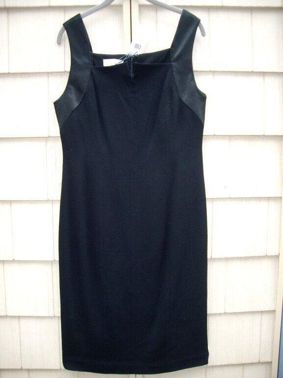 Nwt Adam Adam Lippes Schwarz Krepp Satinrand Kleid Größe 6 Einzelhandel