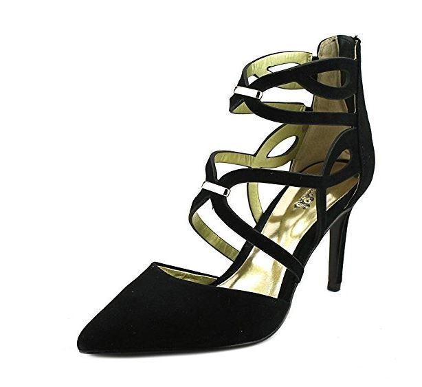 Carlos Santana donna Thea Pointed Toe Leather D-orsay Pumps, nero, Dimensione 6