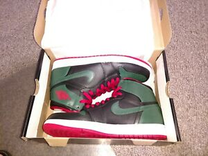 a754c0f49cb NIKE AIR JORDAN 1 RETRO HIGH - BLACK GYM RED GORGE GREEN 332550-025 ...