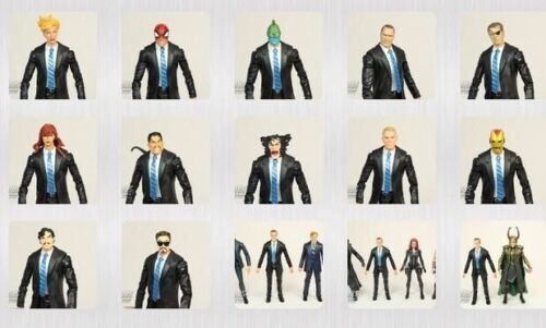 Marvel Legends Iron Man Tony Stark dans Coulson Costume Noir Black Panther Figure