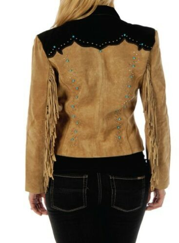 Womens Handmade Jacket Traditional Western Cowgirl Leather Style Formal Coat New
