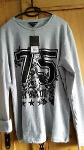 T-SHIRT-RIVALDI-jeans-NEUF-MANCHES-LONGUES-TAILLE-XL
