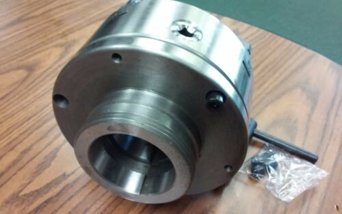 """8/"""" 4-Jaw Self-Centering  Lathe Chuck top/&bottom jaws w L0 adapter plate-new"""