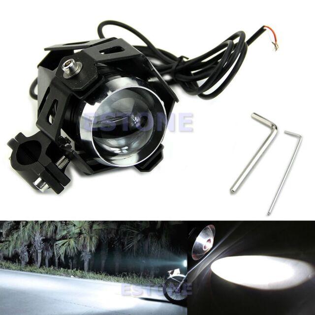 New Motorcycle 125W CREE U5 LED Driving Fog Head Spot Light White Lamp Headlight