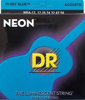 Dr Handmade Nba-12 Neon Blue Acoustic Guitar Strings 12-54 Gauge