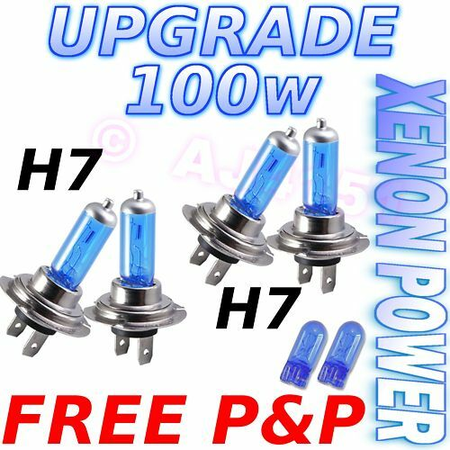 100w Xenon Headlight Bulbs RENAULT Megane Coupe 11//08-/>/>   H7 H7 501
