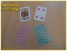 Metall Spielkarte aus hauchdünnem Stahl - magische Wunder mit Magnetmünzen