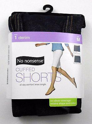 No Nonsense Shorts Size M Blue Denim Look Cotton Blend Cuffed Knee Boyfriend