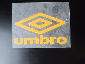 77325beb9a8 Yellow Umbro Logo Retro for Football Shirt Small Letters rounded ...