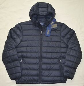 New-Medium-M-POLO-RALPH-LAUREN-Mens-packable-puffer-down-ski-jacket-coat-black