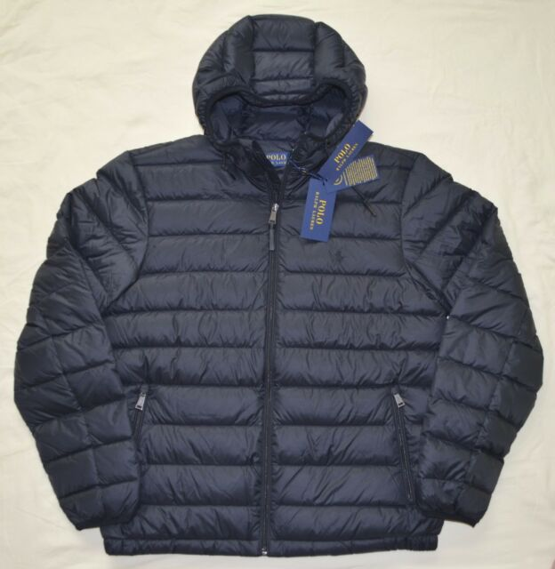 1d2659b9c8 New Medium M POLO RALPH LAUREN Mens packable puffer down ski jacket coat  black