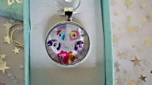 MY LITTLE PONY FLUTTER SHY PINKY RAINBOW APPLE TWILIGHT CHAIN 22 INCH GIFT BOX