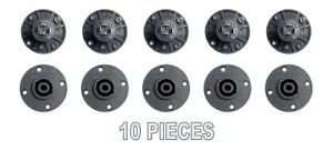 10-pcs-4-Pole-Pin-Locking-Speakon-Round-Chassis-Mount-Speaker-Pro-Audio-X-1092
