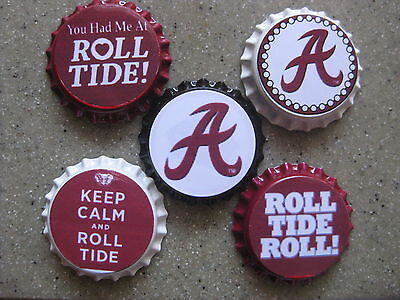 "ALABAMA CRIMSON TIDE BOTTLE CAP IMAGES 15 1/"" CIRCLES *****FREE SHIPPING*****"