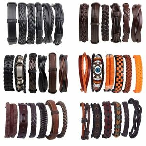 6pcs-set-Vintage-Punk-Leather-Bracelet-Wristband-Bangle-Men-Jewellery-Party-Gift