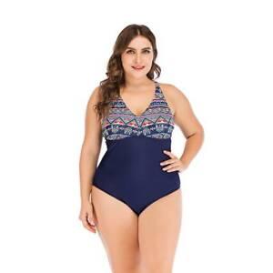 809ae11e096 Plus Size Womens Ladies Boho Beach Swimming Costume Summer Swimsuit ...