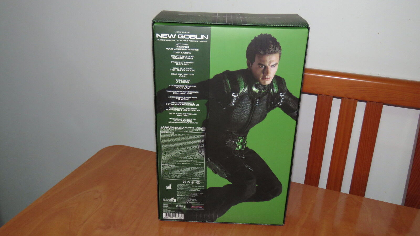 Hot Toys Movie Masterpiece SPIDER-MAN 3 NEW GREEN GREEN GREEN GOBLIN 1 6 MMS153 Empty Box b61caa