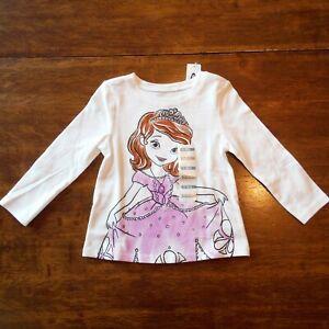 Girls-Disney-White-Sophia-Tee-Shirt-in-size-12-18-month-Toddler-Old-Navy-New