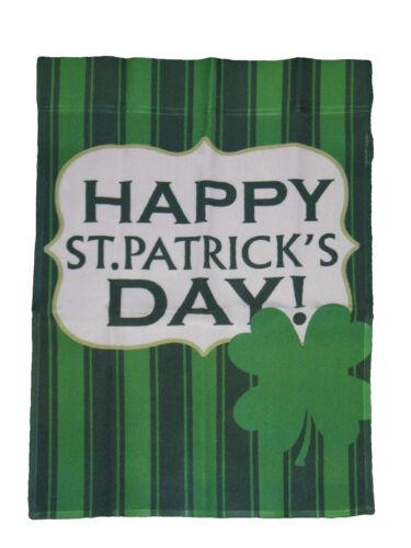 "12x18 Happy St Patrick/'s Day Stripes Sleeved Garden 12/""x18/"" Flag"