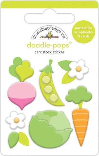 Doodlebug Doodle-Pops 3D Stickers Little Garden 842715062429