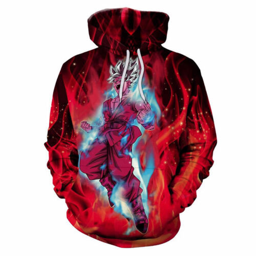 Womens//Mens Dragon Ball Z Flame Goku 3D Print Casual Hoodies Sweatshirt Pullover