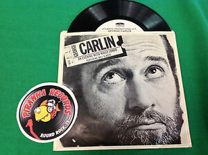 George-Carlin-Excerpts-Evening-With-Wally-Londo-7-034-45RPM-Record-Single-PROMO