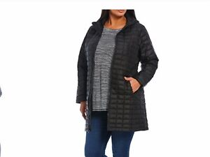 The North Face ThermoBall Eco Insulated Hooded Quilted Parka Black Size 2X NWT