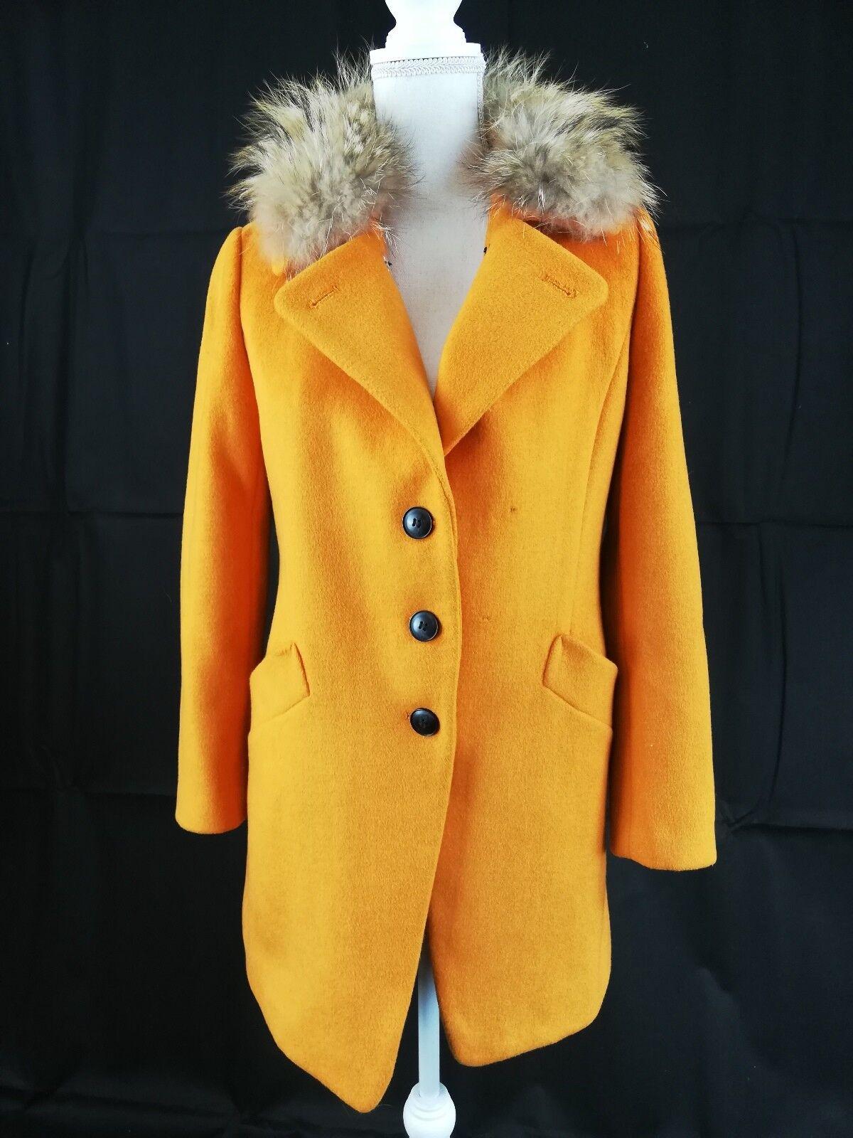 Warme Damen Winter Jacke lang Fuchshaarfell Winterjacke Parka Mantel, Größe  M