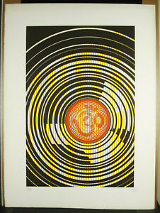 Print-Original-Signed-Artist-in-c1970-Art-Modern-Abstract-Abstract-76-CM
