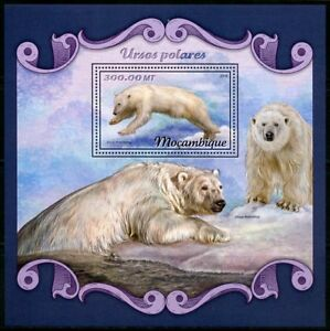 MOZAMBIQUE-2018-POLAR-BEARS-SOUVENIR-SHEET-MINT-NEVER-HINGED