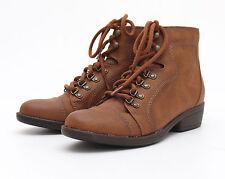 Seven Seconds-señora botas-marrón claro talla 37 UK botines 4-como nuevo