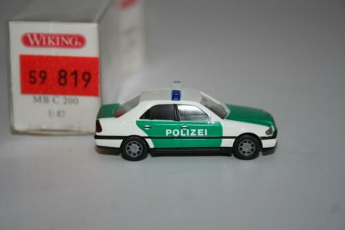 1040225 policía Mercedes-Benz MB C 200 embalaje original Wiking 1:87