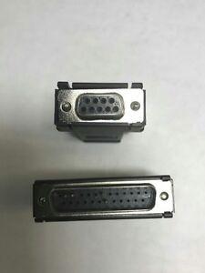 Modular Serial Printer Adapter Ethernet DB9 Female DB25 Male RJ45 Pair