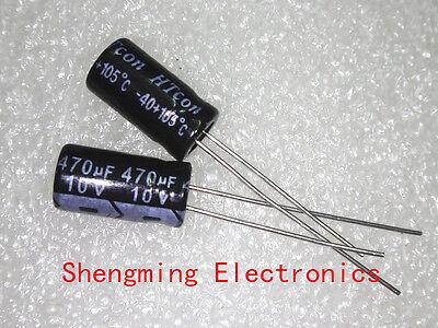 100pcs 470uF 10V Electrolytic Capacitor 10V 470UF 6x12mm