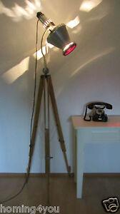Niedrigerer Preis Mit Graziöse Original Hanau Sollux Tripod Lampe Stehlampe '40er Jahre Holz Stativ Möbel & Wohnen