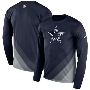 hot sale online 90554 f890f Image is loading Dallas-Cowboys-NFL-Sideline-Legend-Long-Sleeve-Dri-