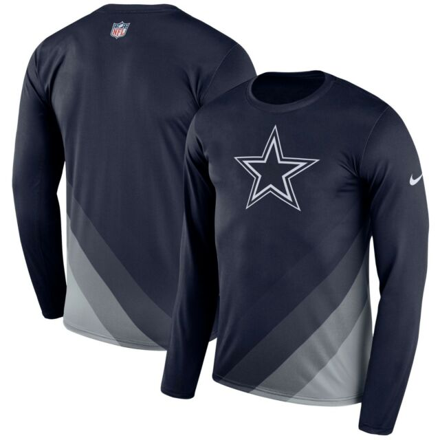 3117fe355d1 Dallas Cowboys NFL Sideline Legend Long Sleeve Dri-Fit T- Shirt - XL Free