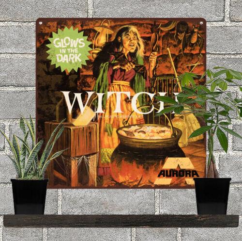 """Aurora Witch Glow in the dark model Garage Man Cave Metal Sign 12x12/"""" 60764"""