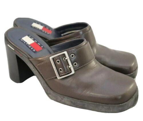 Vintage 90s Tommy Hilfiger Chunky Clog Platforms B