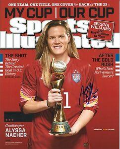 Signed-8x10-ALYSSA-NAEHER-USA-Soccer-Autographed-photo-w-COA