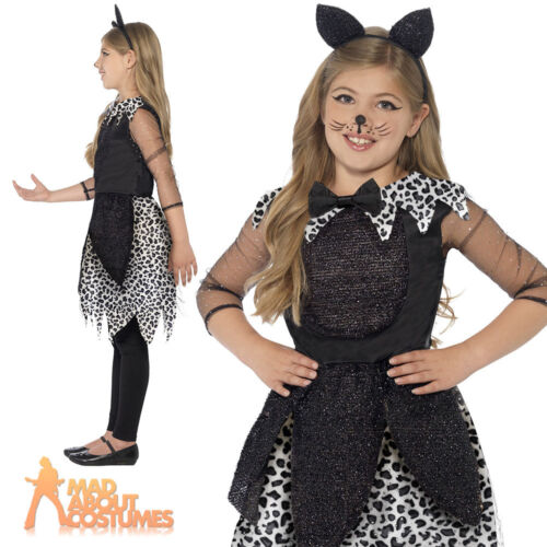 Child Midnight Kitty Cat Costume Deluxe Book Day Halloween Fancy Dress Outfit