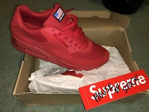 b172394ecfe9 Image is loading nike-air-max-90-red-independence-day-USA-