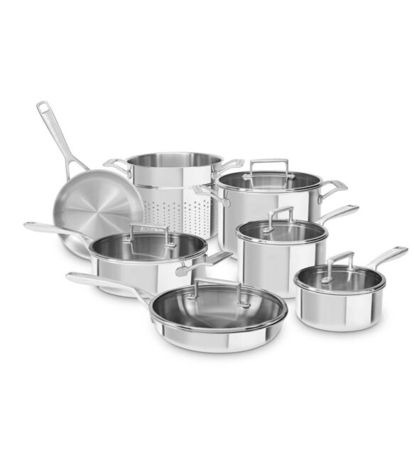 KitchenAid 12-Piece Cookware Set - Stainless Steel KC2TS12ST