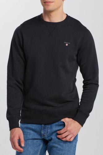 BNWT Gant Noir l/'original à encolure ras-du-cou Pull Pullover Soirée Sweat Fab Style